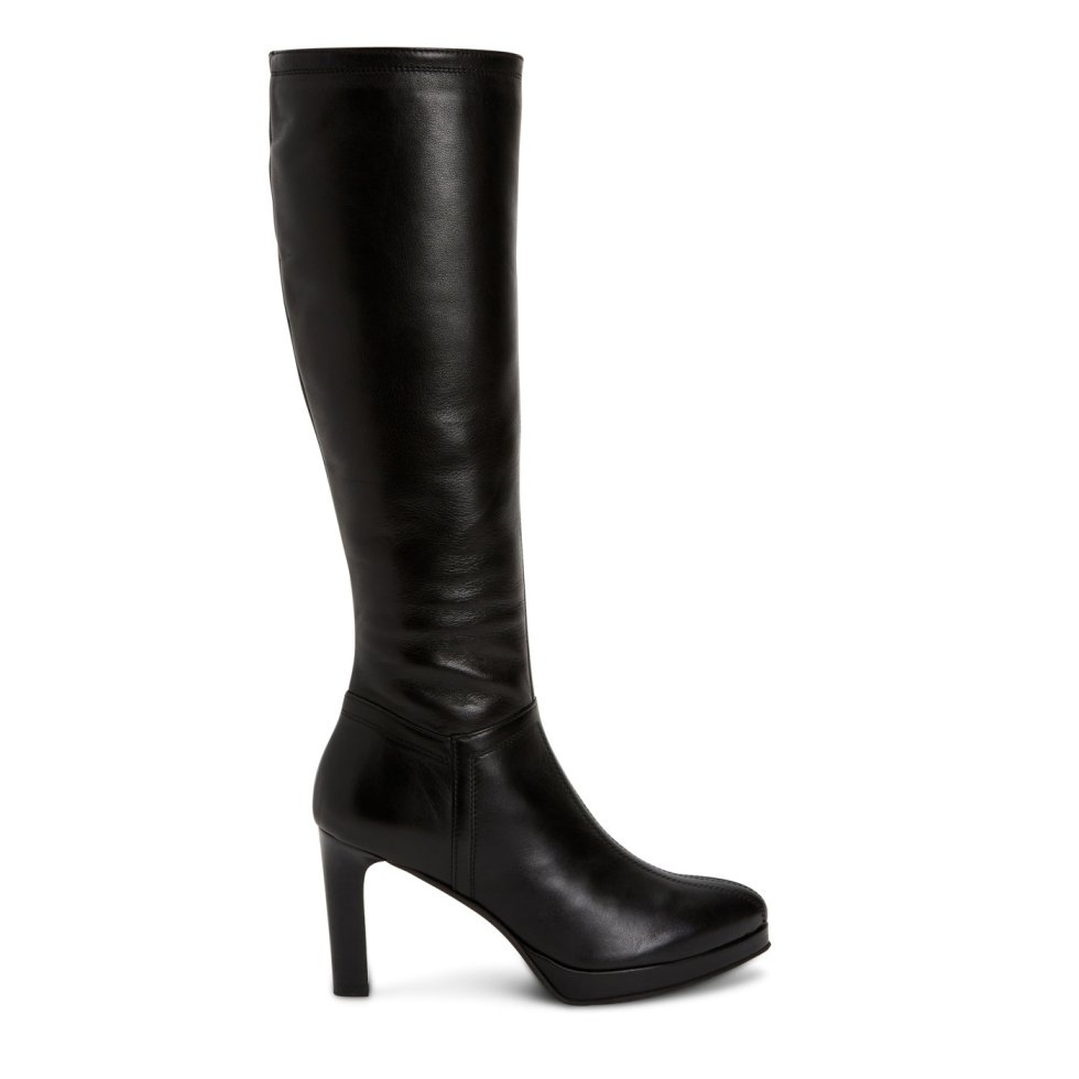 Aquatalia Raelynn Black In Size 8 - Leather - Made In Italy