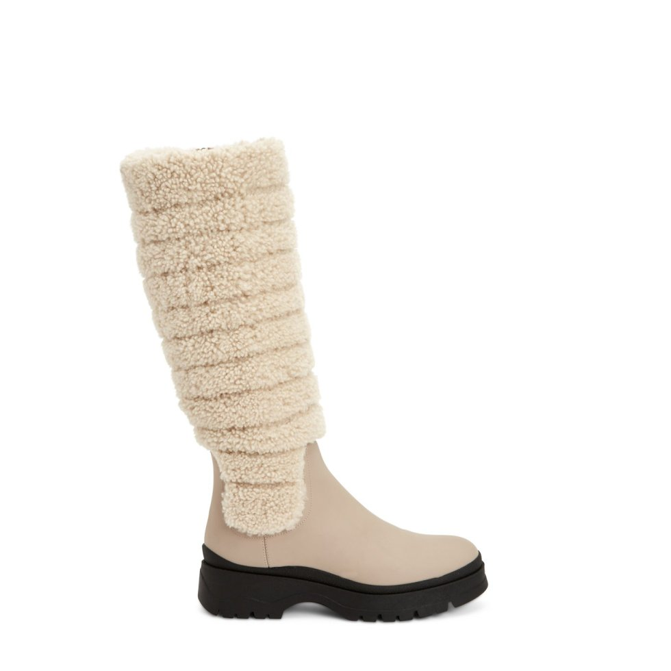 Aquatalia Skyla Taupe/natural In Size 10.5 - Leather - Made In Italy