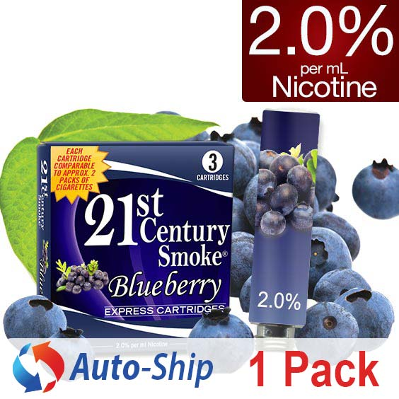 Refill 3 Pack Box- Blueberry 2.0% Nicotine - Auto-Ship
