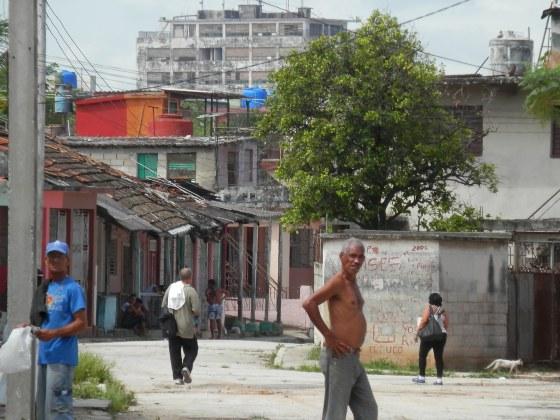A busy street in the southwestern Havana slum where I stayed.