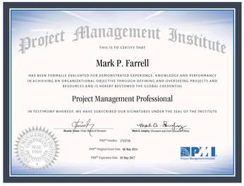 Certifications Mark P Farrell S E Resume
