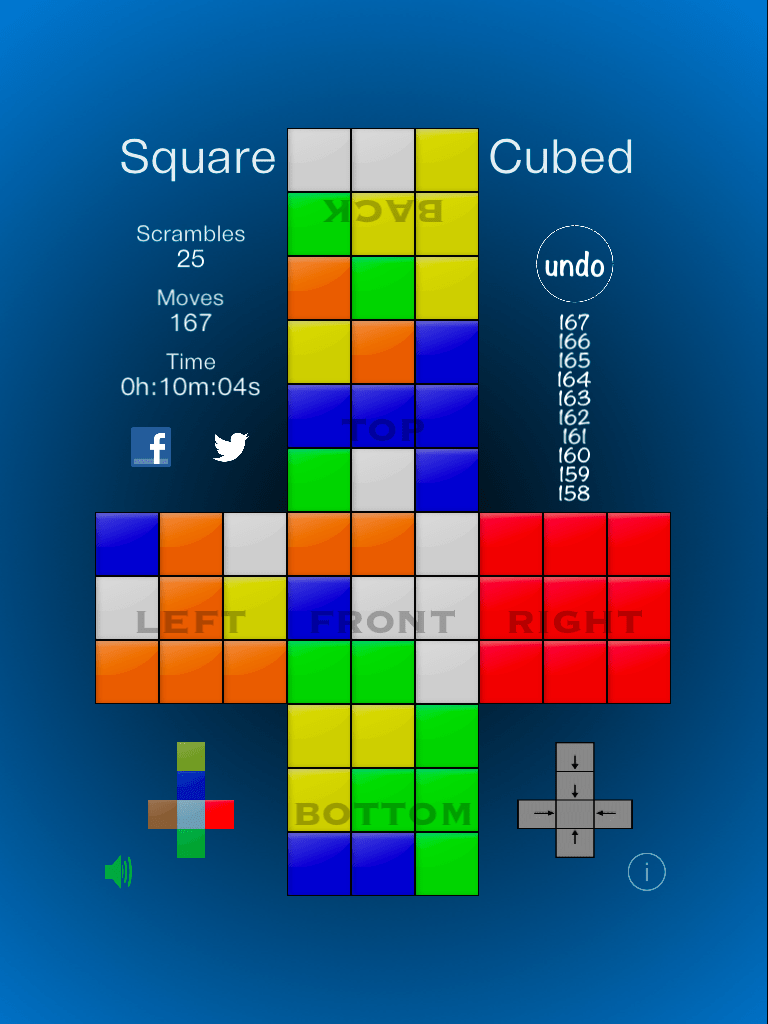 Square Cubed  Flattened Rubiks Cube Like Puzzle