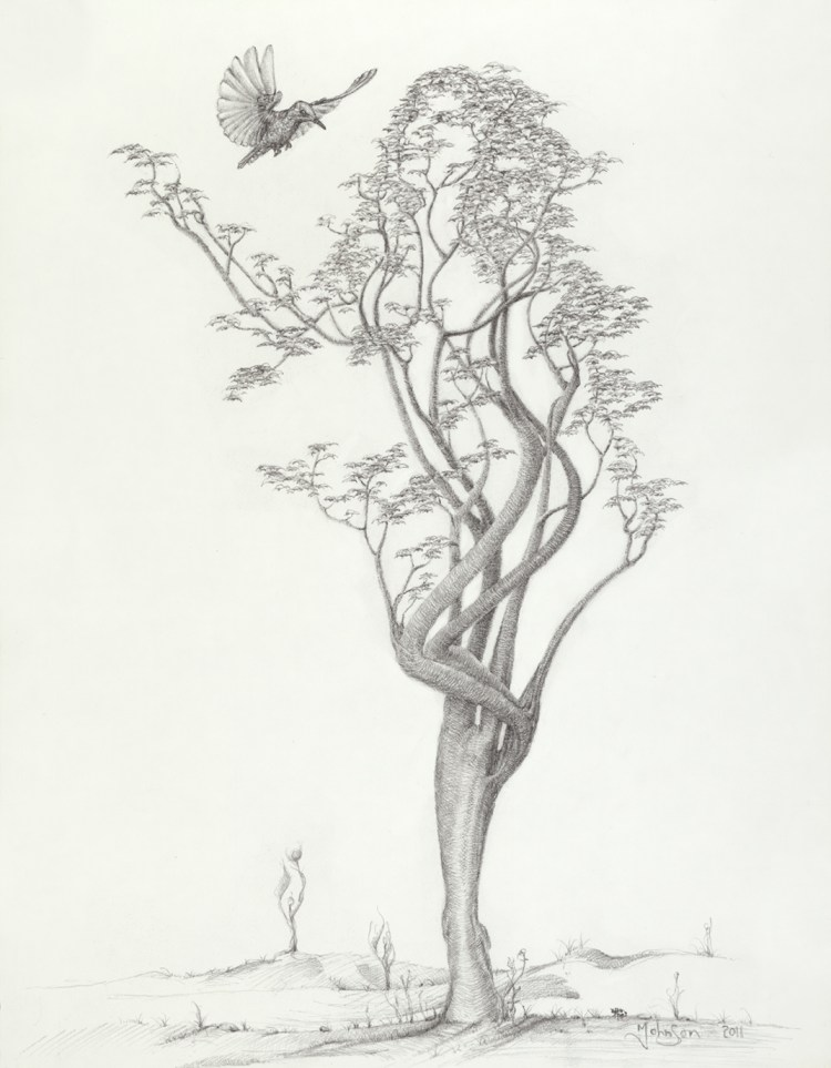 Mark Johnson_Tree Dancer in Flight 14x18