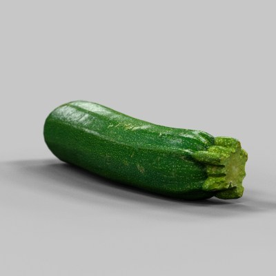 Courgette Vegetable 3D Model