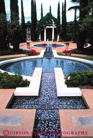 commercial landscape design fountain