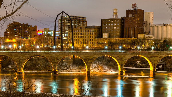 Stone Arch Bridge, Minneapolis, Pedestrian Bridge, Mississippi River Bridge