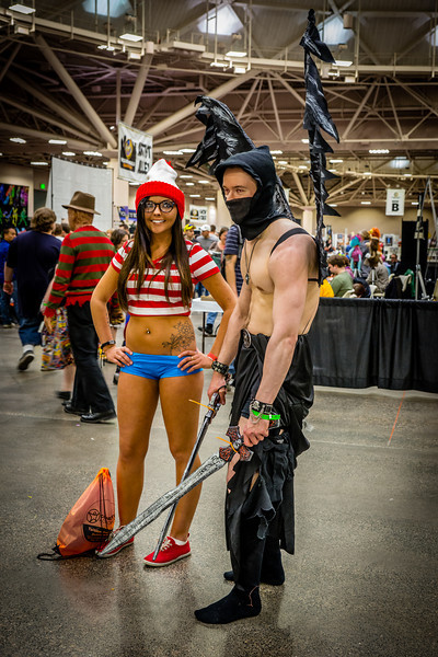 Wizard World Minneapolis Comic Con 2014, Girls of Comic Con, Where's Waldo costume, Comic Con Cosplay