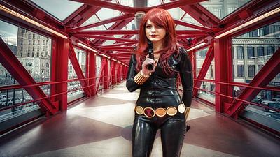 Comic Con HDR Fusion, Cosplay HDR, Cosplay Comic Con, Black Widow Costume, Black Widow Cosplay