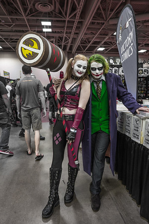 Wizard World Comic Con Minneapolis 2015, Harley Quinn costume, The Joker costume, Suicide Sqaud Costumes