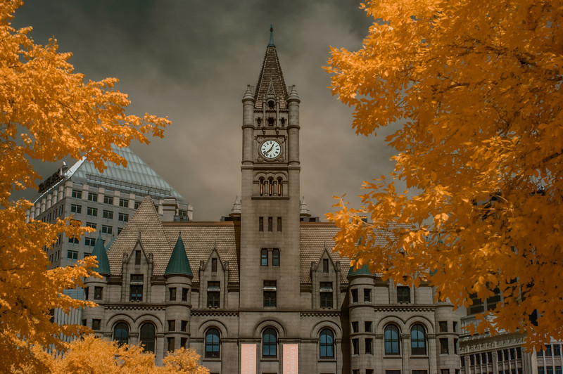 Landmark Center, Infrared Photography, St. Paul, Minnesota, Saint Paul, Infrared Autumn