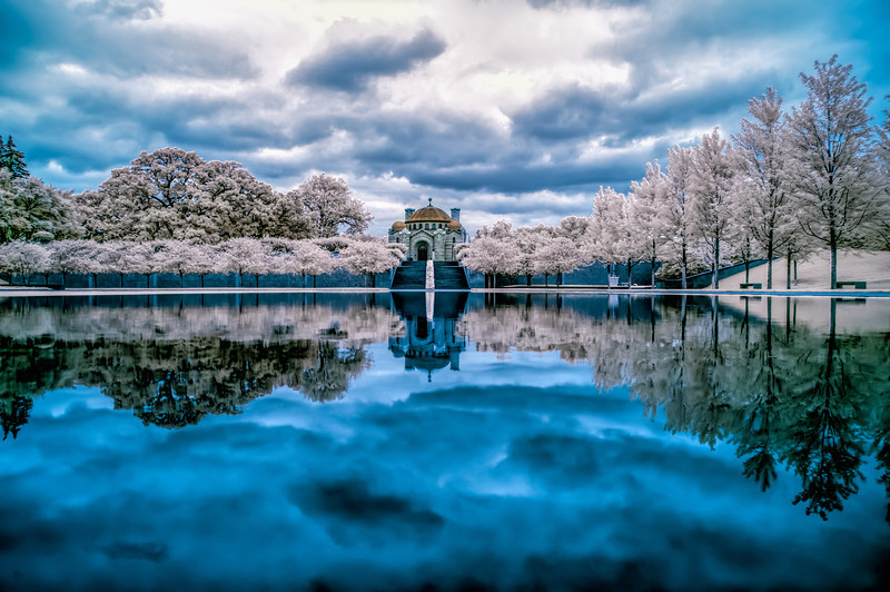 Infrared, Lakewood Memorial Chapel, Lakewood Cemetery, Minneapolis