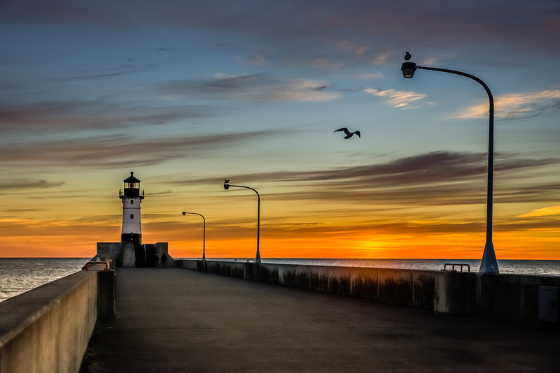 Canal Park, Lighthouse, Lake Superior, seagulls, duluth, Minnesota,