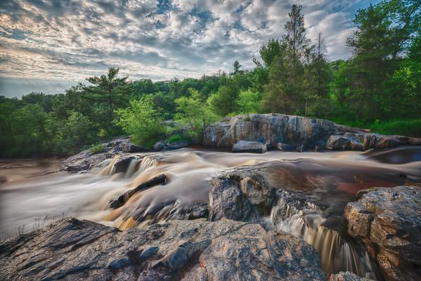 Big Falls Wisconsin, HDR Waterfall, Eau Claire, Long exposure waterfall