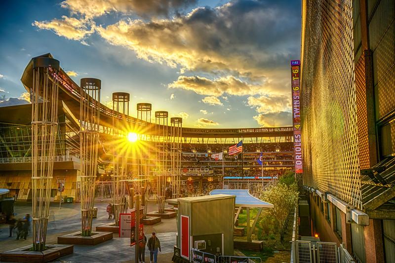 Target Field Sunset, Target Field HDR, baseball stadium