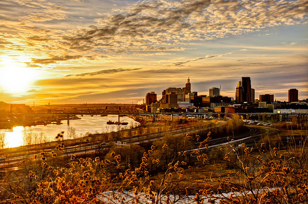 Sunset, Saint Paul Minnesota, St. Paul, HDR Imagery, Capture Minnesota, Photo of the Day, Mississippi River