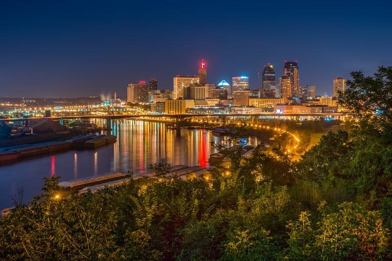 HDR ISO Bracketing, St. Paul Skyline, Cityscape HDR, Adjusting ISO for HDR