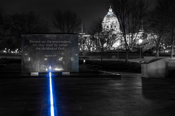The Thin Blue Line, Minnesota State Capitol, Photography, Peace Officers Memorial