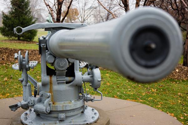U.S.S. Ward Naval Gun, World War 2, Pearl Harbor, First Shot Fired