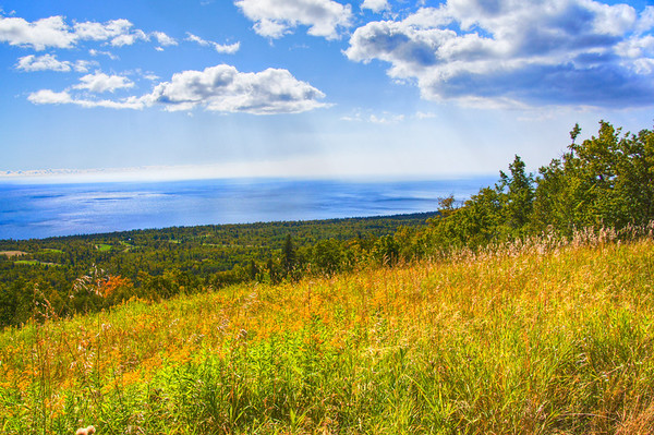 Eagle Mountain, Mountain Meadow, Lutsen, Minnesota, Lake Superior, HDR, Tonemapped