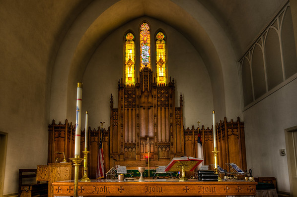 First Lutheran Church, Red Wing, Minnesota, Altar, Stained Glass, Church, HDR, HDR Church Photography