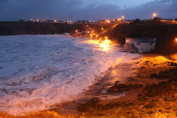 Storm surge on the Ballybunion strand during a January storm. Photo from breakingnews.ie