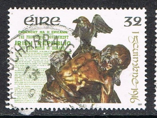 Irish stamp issued in 1991 for 75th anniversary of the Easter Rising.