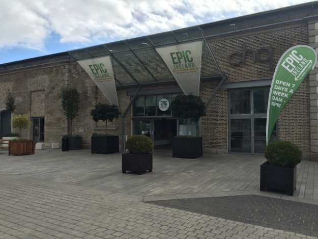 Entrance of EPIC Ireland in Dublin's docklands district.