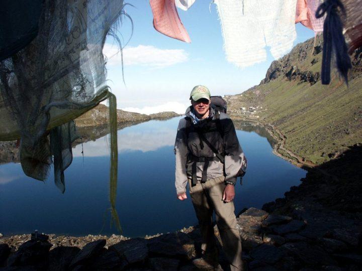Above Gosainkund lake, during my Langtang trek in 2007