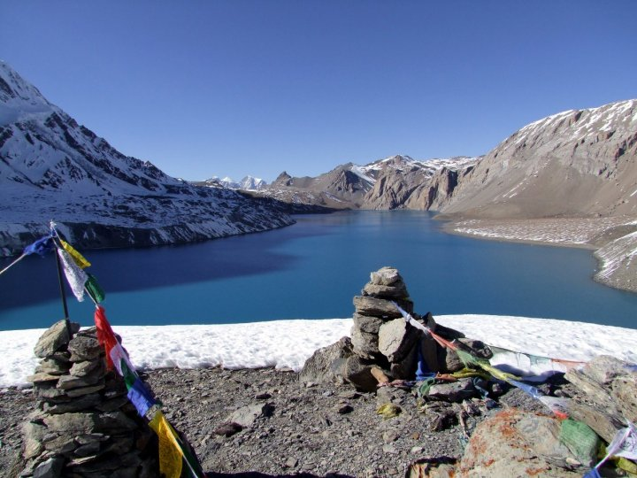 Tilicho Lake, probably the bleakest lake in the world