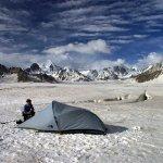 Camping on Snow Lake in the Pakistan Karakoram (Photo: Ben Tubby)