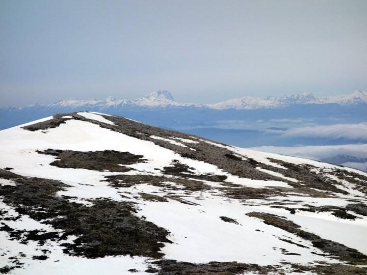 Corno Grande from the windswept summit of La Terratta