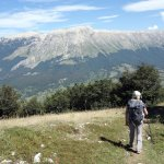Pleasant walking in Monte Morrone, with the Maiella plateau across the valley