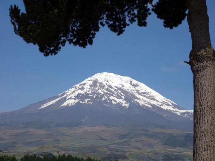 Huge, isolated Chimborazo in Ecuador, was once used to proved Newton's theory of gravity