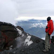 Climbing Tungurahua and entering the throat of fire