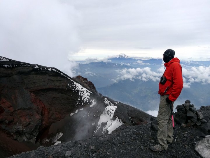 Looking down into the crater of Tungurahua