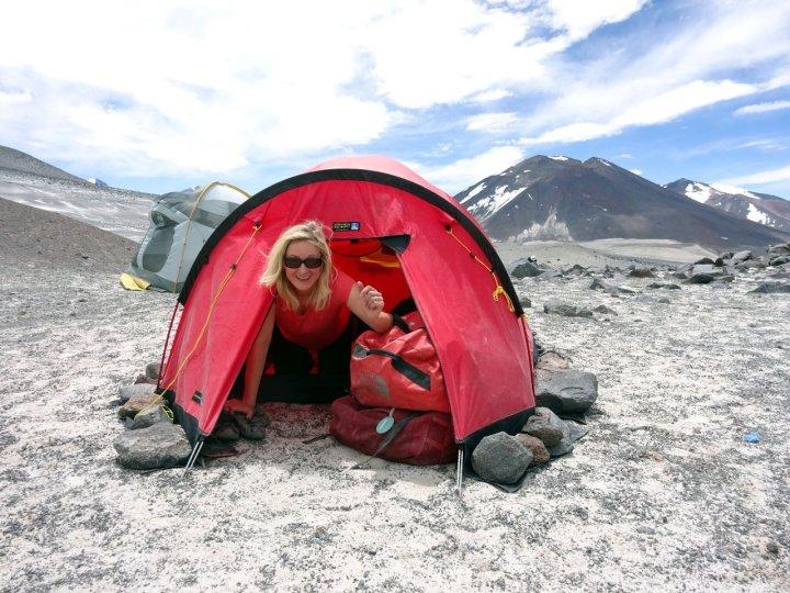 Atacama Camp was a fabulous setting on a high sandy ledge