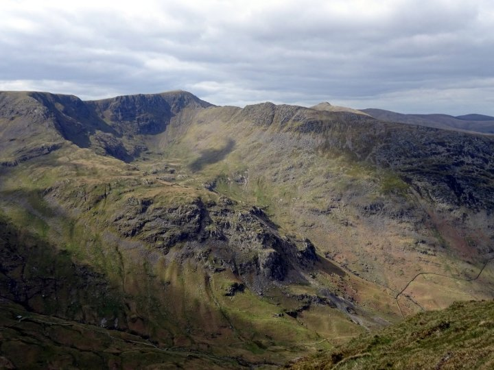 Helvellyn and Striding Edge from St Sunday Crag