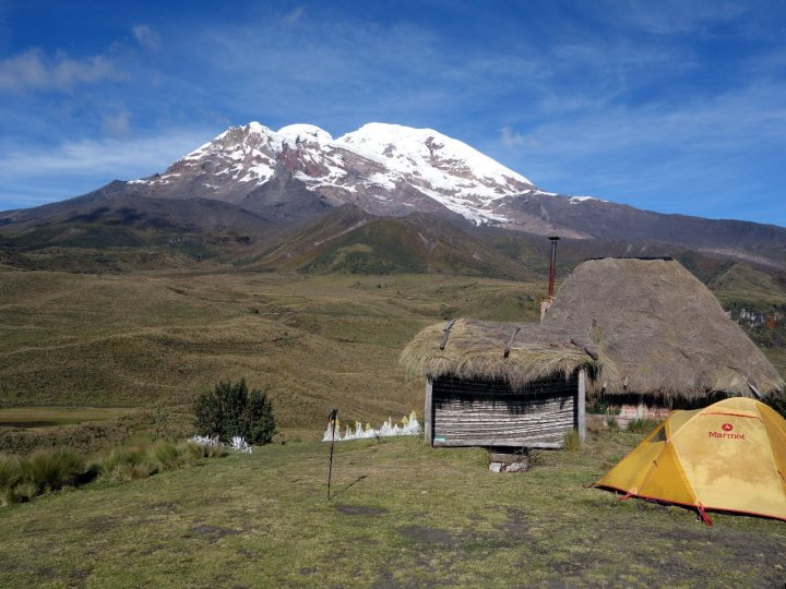 Urkuhuasi was a thatched cottage on a small hill underneath the east side of Chimborazo