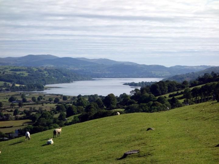 Bala Lake from the northern end of the Aran Ridge