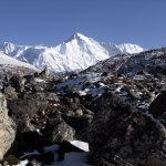 Cho Oyu from the Gokyo valley in Nepal