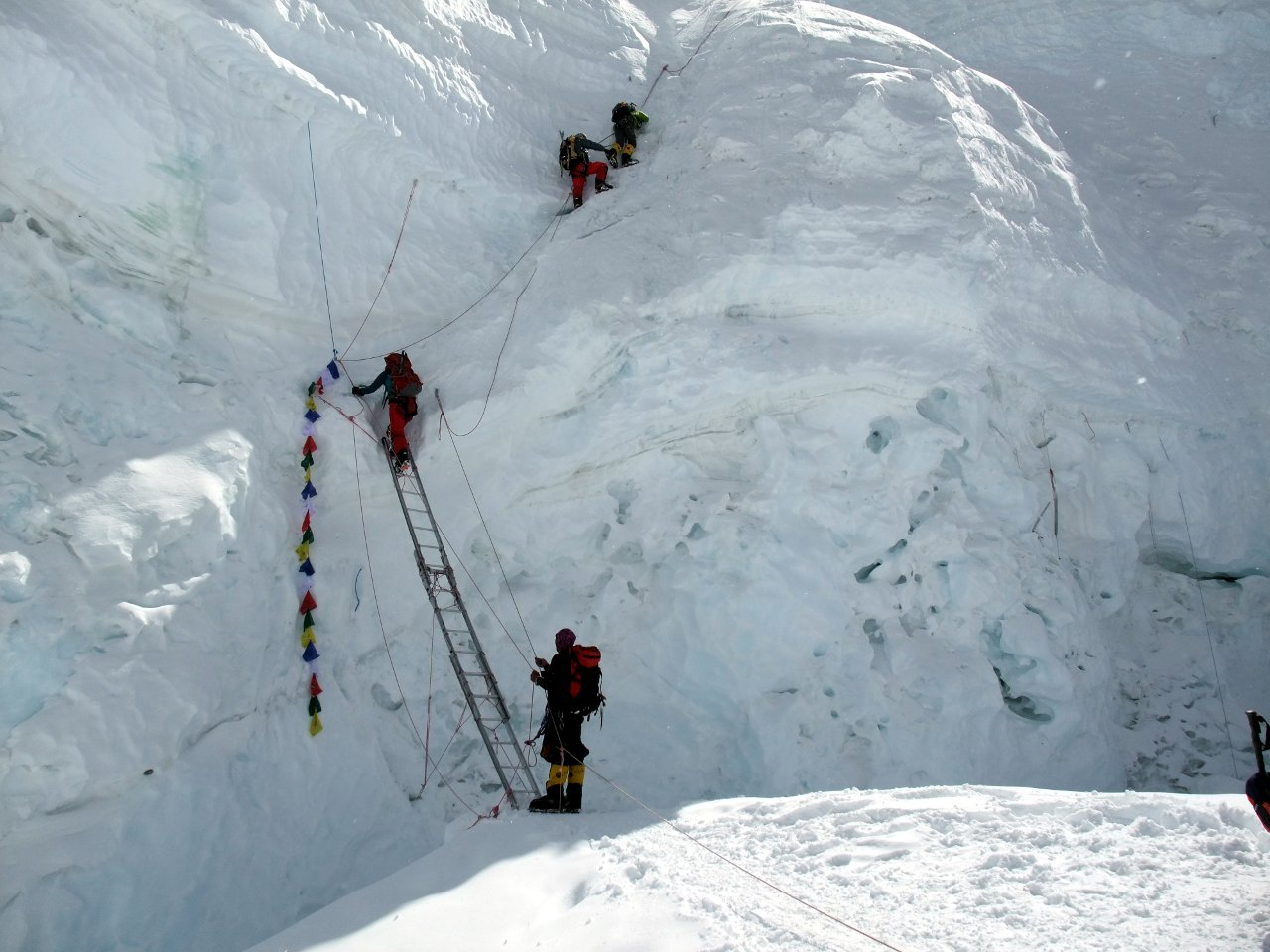 Ice Fall Wallpaper The North Col And The Ladder Of Death Mark Horrell