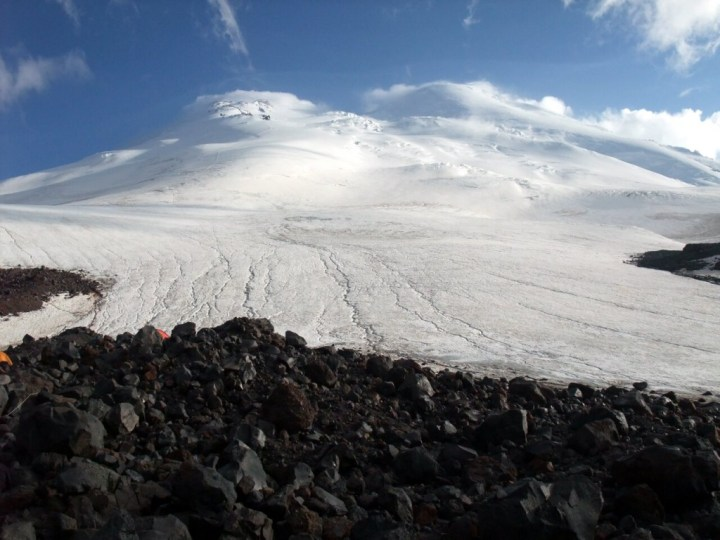 Elbrus from the north side is much more of a wilderness experience