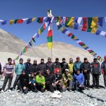 The 2012 Altitude Junkies Everest team, including Sherpas and kitchen crew, at Base Camp