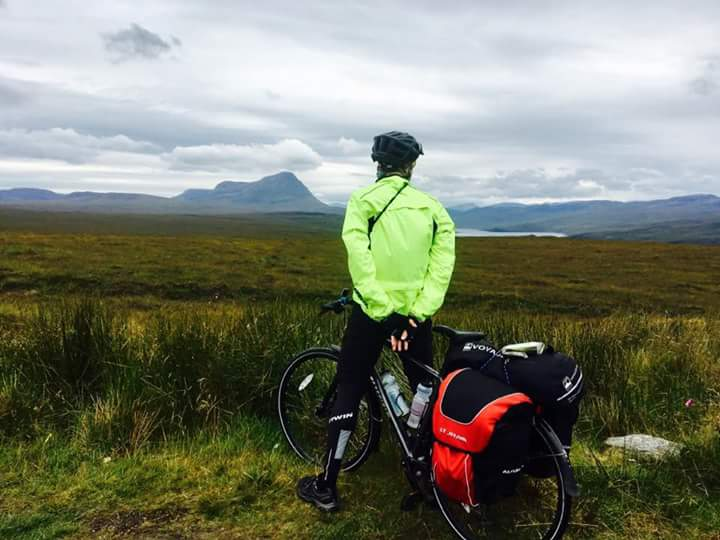 That's me staring at Ben Hope, Scotland's most northerly Munro, wishing I could climb the damn thing, not cycle past it