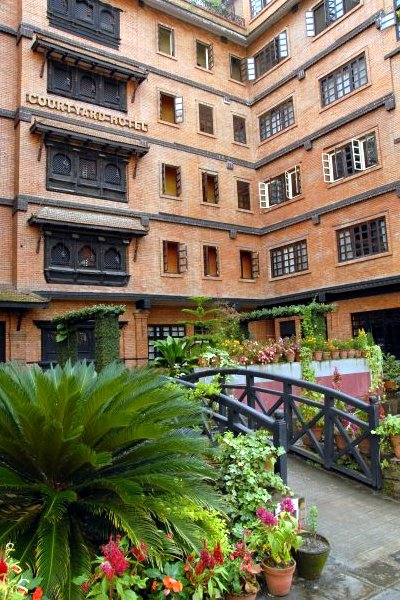 The exterior and entrance to the Courtyard Hotel, as we remember it (Photo: Michelle Pradhan)
