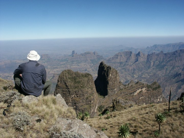 The Simien Mountains are a green paradise rising to over 4,000m