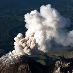 Volcan Santa Maria (Santiaguito) erupting in 2009 (Photo: Nestori Virtanen)