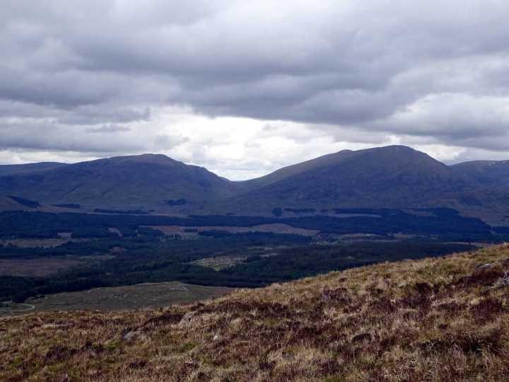Beinn Teallach and Beinn a'Chaorainn from the flanks of Chno Dearg