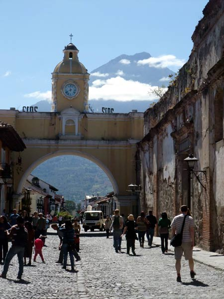Antigua is a lovely old colonial town surrounded by volcanoes