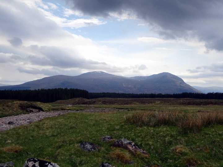 Chno Dearg and Stob Coire Sgriodain from beneath Beinn Teallach